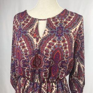 Everly paisley dress
